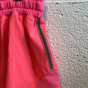 lululemon athletica Shorts - Lululemon neon pink shorts sz 2 61071
